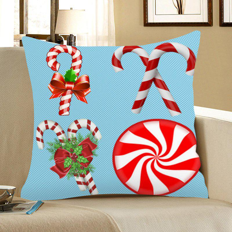 Shops Christmas Candy Bar Pattern Square Pillow Case