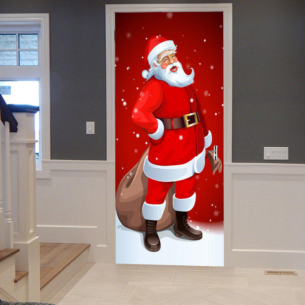 2019 Santa Claus Pattern Christmas Decor Door Stickers