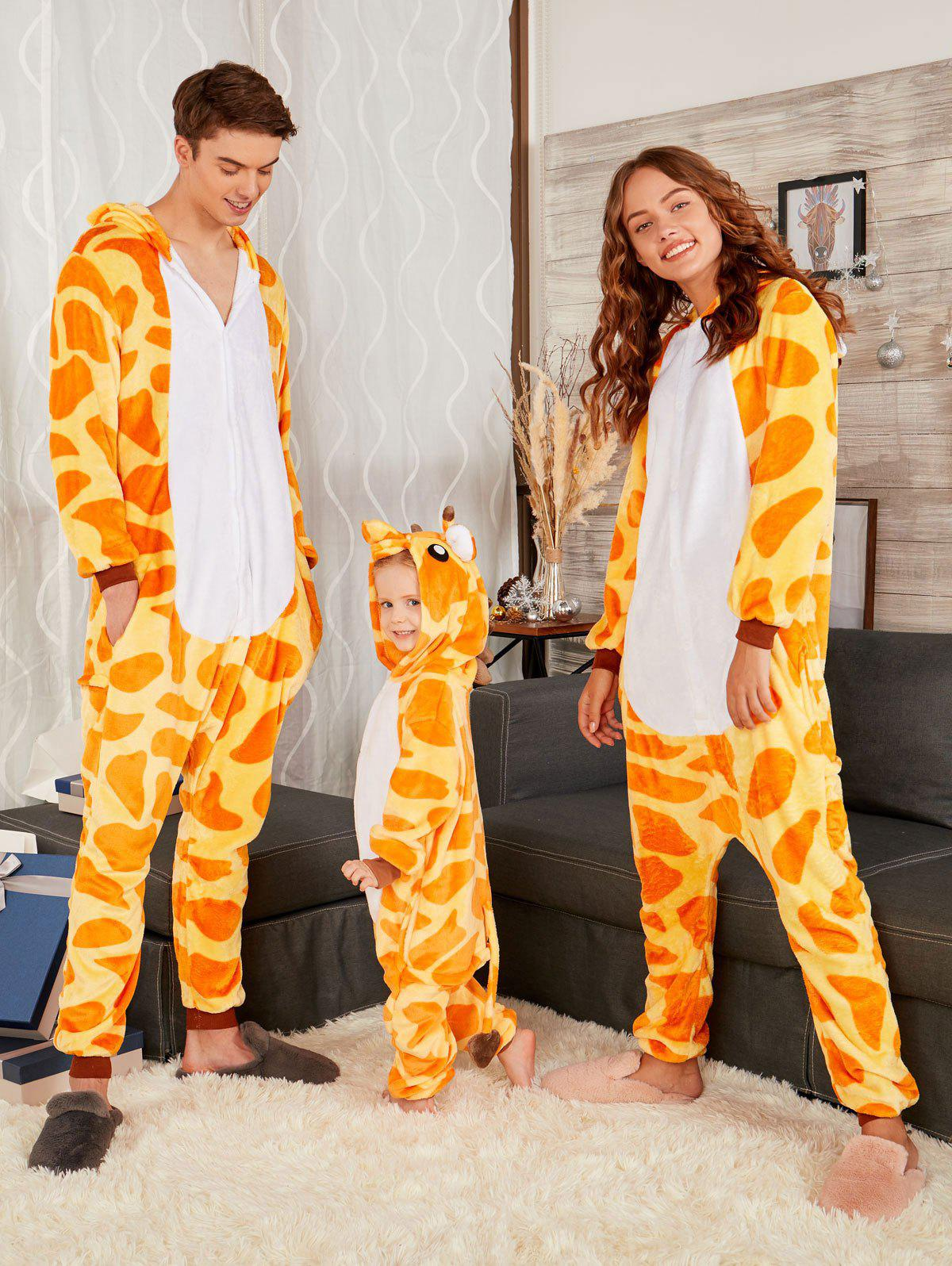 Discount Cute Giraffe Christmas Family Animal Onesie Pajamas