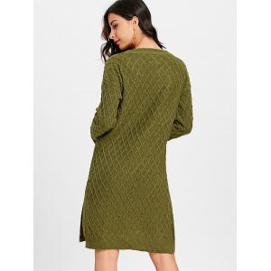 Robe-pull à encolure en V et à encolure en V Argyle -