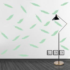 Noctilucence DIY Feather Shape Wall Stickers -
