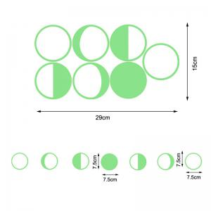 Noctilucence Gradual Change Moon Shape Wall Stickers -