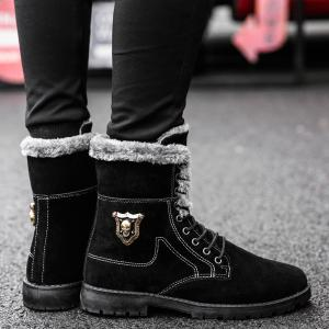 Bottines en daim à ornements métalliques Skull -