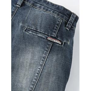 Tapered Fit Zip Fly Whisker Jeans -