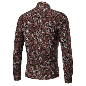Turn Down Paisley Print Casual Shirt -