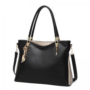 Faux Leather Metallic Shoulder Bag -