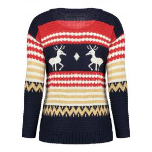 Christmast Elk High Low Sweater -