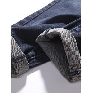 Tapered Fit Zip Fly Pockets Jeans -