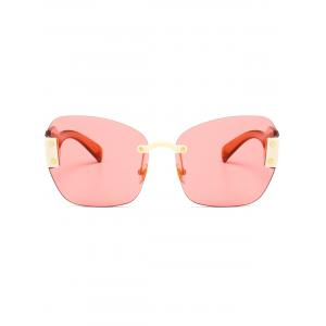 Vintage Butterfly Shape Embellished Rimless Sunglasses -