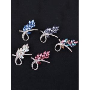 Rhinestone Faux Crystal Flower Brooch -