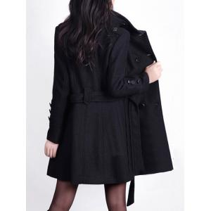 Double Breast Belted Trench Coat -