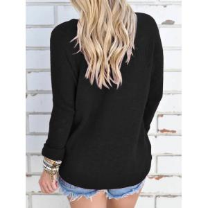 V Neck Long Sleeve Tunic Knitwear -