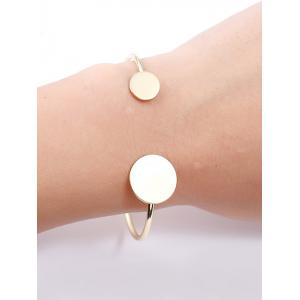 Bracelet manchette rond simple en alliage -