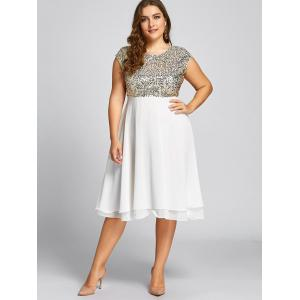 Flounce Plus Size Sparkly Sequin Cocktail Dress -