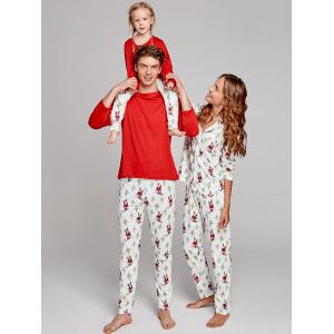 Santa Claus Printed Family Christmas Pajama Suit -