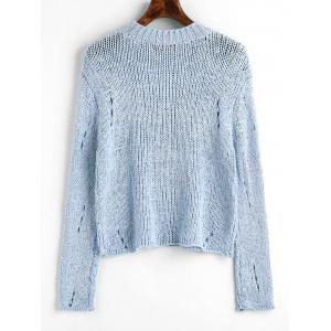 Ripped Hollow Out Pullover Sweater -