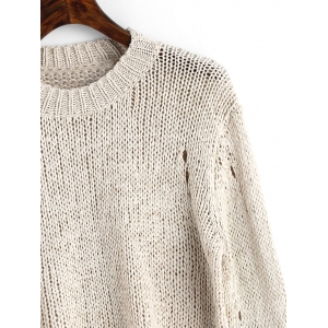 Ripped Hollow Pullover Pull -