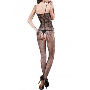 Lingerie Cami Fishnet Open Crotch Bodystockings -