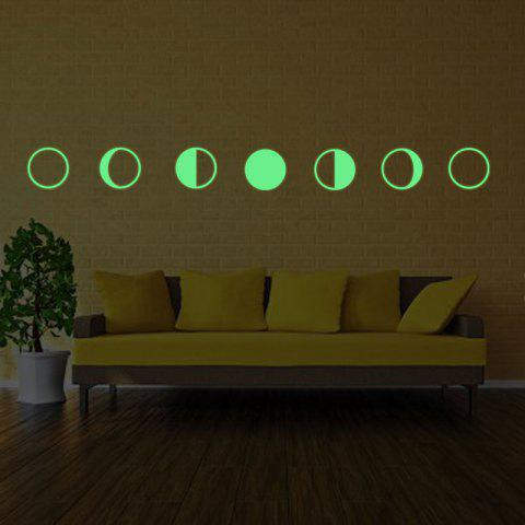 Shop Noctilucence Gradual Change Moon Shape Wall Stickers