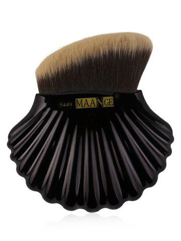 Chic Professional Shell Shape Decorative Bevelled Foundation Brush