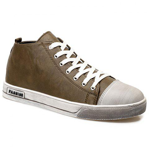 New Faux Leather High Top Sneakers
