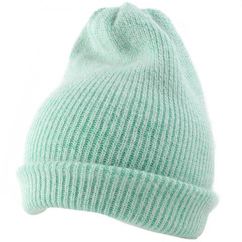 Online Flanging Embellished Knitted Lightweight Beanie