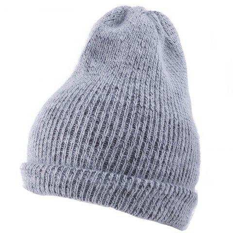 Fancy Flanging Embellished Knitted Lightweight Beanie