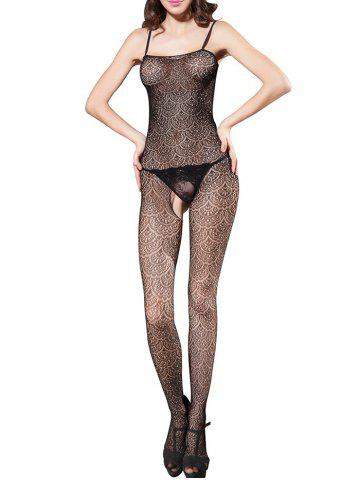 New See Through Slip Open Crotch Bodystockings