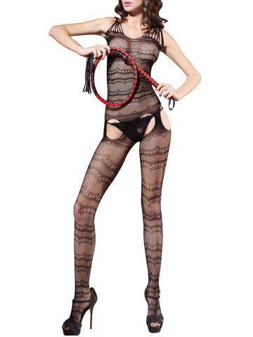 Outfit Fishnet Crotchless Sleeveless Bodystockings