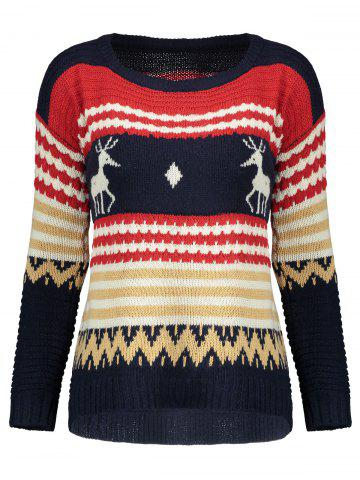 Hot Christmast Elk High Low Sweater