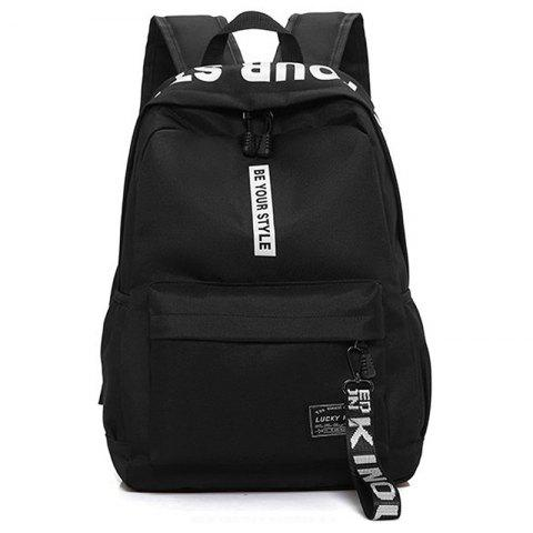 Online Letter Print Multi Function Backpack