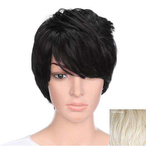 Fancy Short Oblique Bang Natural Straight Human Hair