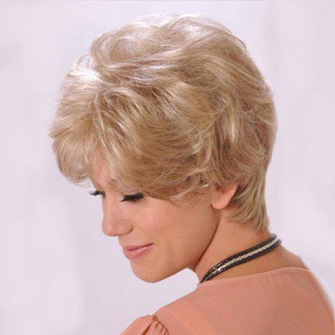 Hot Short Side Bang Fluffy Slightly Curly Human Hair Wig