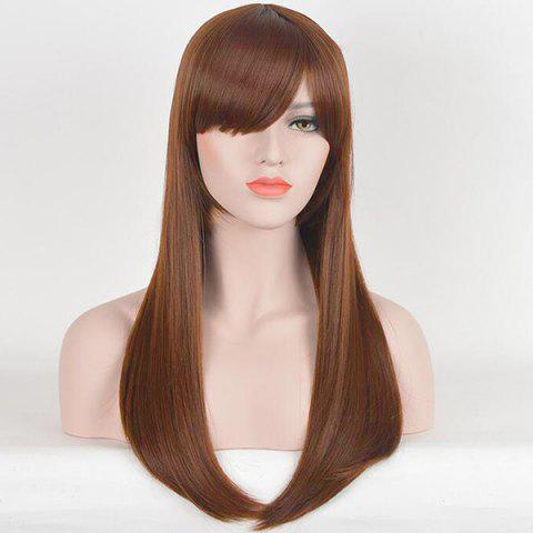 Buy Long Inclined Bang Straight Human Hair Wig