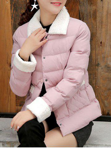 Cheap Button Up Quilted Jacket