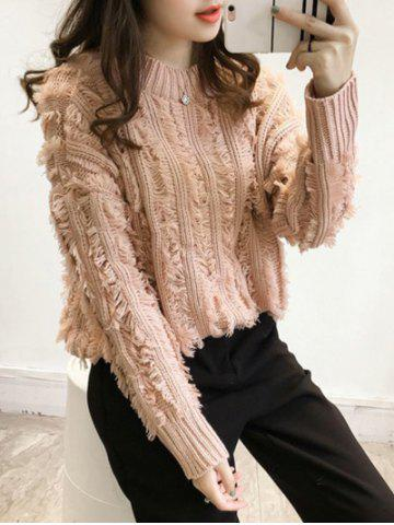 Outfit Long Sleeve Tassel Insert Knit Sweater