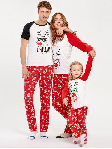 rouge mom m ensemble pyjama imprim renne de no l pour la famille mobile. Black Bedroom Furniture Sets. Home Design Ideas