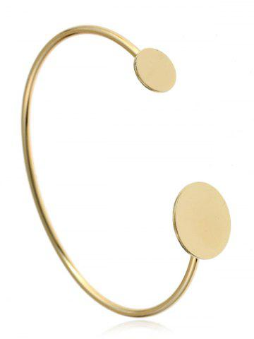 Bracelet manchette rond simple en alliage