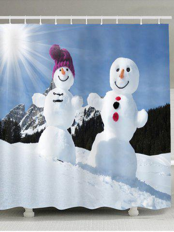 Buy Sunshine Snowmen Couple Pattern Shower Curtain