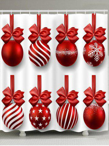 New Christmas Hanging Balls Pattern Shower Curtain
