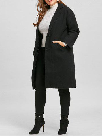 Store Long Plus Size Button Up Coat