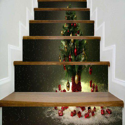 Christmas Tree Printed DIY Decorative Stair Stickers