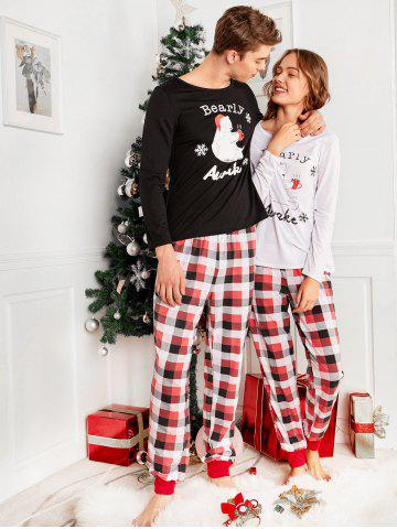 45 bear plaid family christmas pajama set