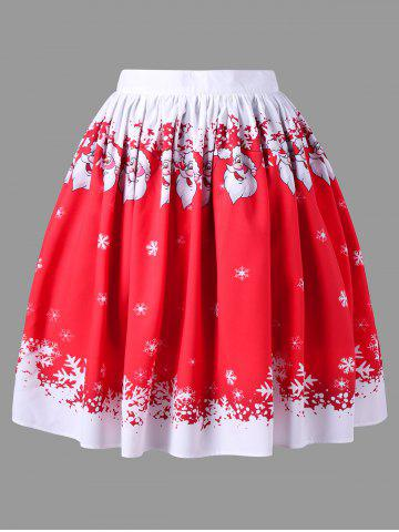 Latest Christmas Plus Size Santa Claus Swing Skirt