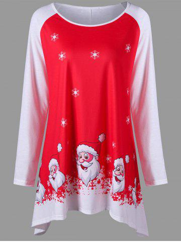 Fancy Christmas Plus Size Santa Claus Tunic Tee