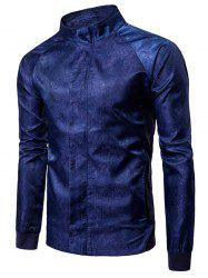Paisley Raglan Sleeve Zip Up Jacket -
