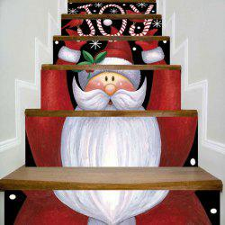 Joy Santa Claus Printed DIY Decorative Christmas Stair Stickers