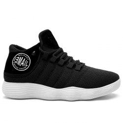 Breathable Patched Mesh Upper Athletic Shoes -