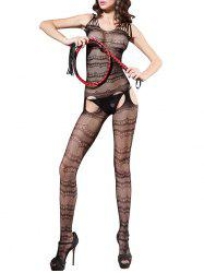 Fishnet Crotchless Sleeveless Bodystockings -