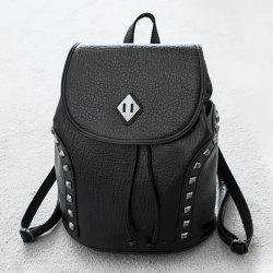 PU Leather Rivets Backpack -